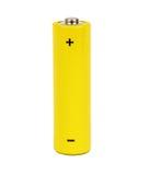 Bateria pequena amarela Imagem de Stock Royalty Free
