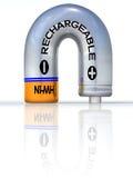 Bateria recarregável aterrada ilustração do vetor