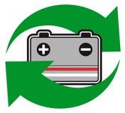 bateria recyklingu Obraz Royalty Free