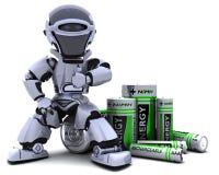 bateria robot Fotografia Stock