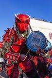 Bateria a seção musical na parada brasileira de Carnaval Foto de Stock