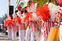 Bateria section in the Brazilian Carnival Stock Photography