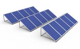 A bateria solar Fotos de Stock Royalty Free