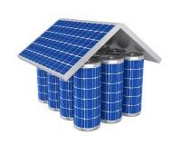 Bateria solar da casa isolada Imagens de Stock