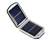 Bateria solar móvel imagens de stock