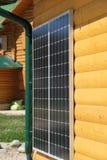 Bateria solar na parede Fotografia de Stock