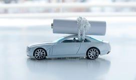 Bateria - zasilany Elektryczny samochód Obrazy Stock