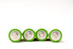4 baterias imagem de stock