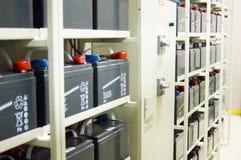 Baterias da fonte de alimentação Uninterruptible (UPS) Fotografia de Stock