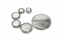 Baterias de lítio de vários tamanhos Fotos de Stock