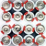 Baterias no fundo branco Diversas baterias fotografia de stock