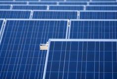 Baterias solares Imagens de Stock