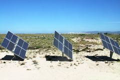 Baterias solares Imagem de Stock