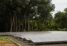Baterias solares Fotografia de Stock