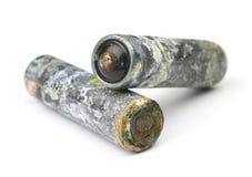 Baterias velhas foto de stock royalty free