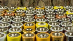 Baterias velhas para reciclar imagens de stock royalty free