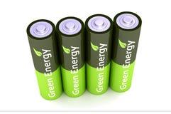 Baterias verdes do poder de Eco Imagem de Stock