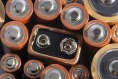baterie używać zdjęcia stock