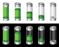 baterie ustawiać Obrazy Royalty Free
