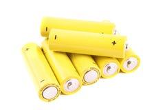 baterie wypiętrzają małego fotografia stock