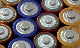 Bateries di aa Immagine Stock
