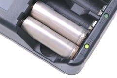 Bateries in Lader Royalty-vrije Stock Foto's