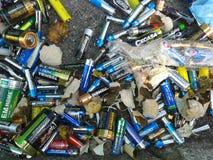 Bateries residui Fotografia Stock Libera da Diritti