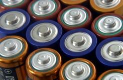 Bateries van aa Stock Afbeelding