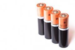 Baterii aa alkaliczna kadmowa substancja chemiczna Fotografia Stock