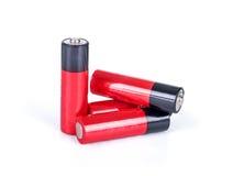 Baterii aa alkaliczna kadmowa substancja chemiczna trzy Obraz Stock