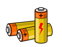 Baterii ikona Zdjęcie Royalty Free