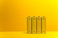 baterii kolor żółty Zdjęcia Stock