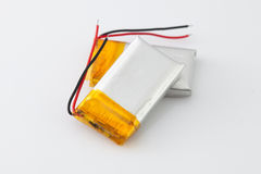 Baterii paczka na białym tle Obraz Stock