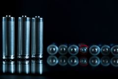 Baterii tła źródło energii i przetwarzać pojęcie Zdjęcie Stock