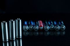 Baterii tła źródło energii i przetwarzać pojęcie Obrazy Stock