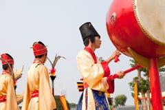 Baterista antigo da corte de China fotos de stock royalty free