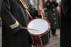 Baterista do exército Fotografia de Stock Royalty Free