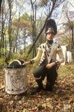 Baterista histórico do Reenactment, guerra de revolucionário americano, Windsor novo, NY Foto de Stock Royalty Free