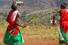 Bateristas de Burundi Fotografia de Stock