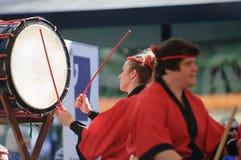 Bateristas de Taiko Imagem de Stock Royalty Free