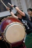 Bateristas de Taiko Imagem de Stock