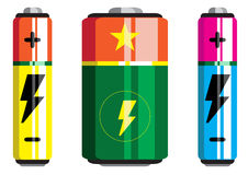 Bateryjna ikona, bateryjny wektor, bateryjne ikony Zdjęcia Stock