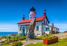 Bateryjna punkt latarnia morska Zdjęcie Royalty Free