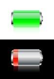 bateryjne ikony Obrazy Royalty Free