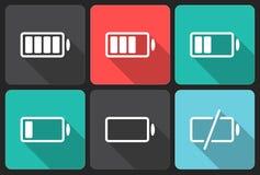 Bateryjne ikony Fotografia Stock