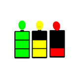 Bateryjne ikony Obraz Stock