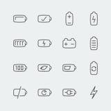 Bateryjne wektorowe ikony Zdjęcie Stock