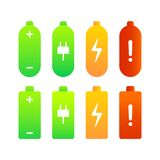 Bateryjnego ładunku równi wskaźniki Zdjęcie Stock