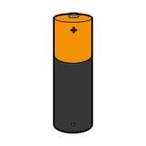 Bateryjnego litu odosobniona ikona Fotografia Stock