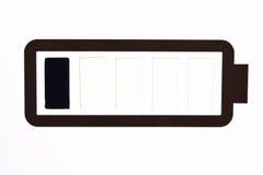 bateryjnej czarny ikony idealny niski prosty biel Zdjęcia Stock